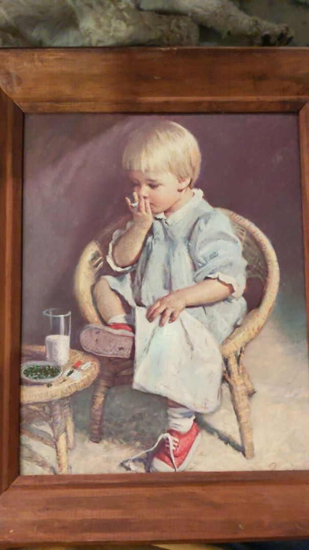 This Little Boy Was Eating Some Cookies, But His Fingers Were Perfect For A Good Ole Fashioned Jazz Cigarette