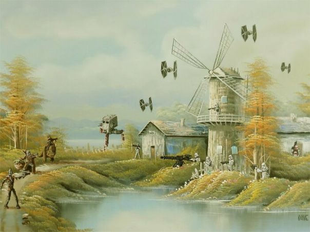 I Added Star Wars To Another Thrift Store Painting In Quarantine