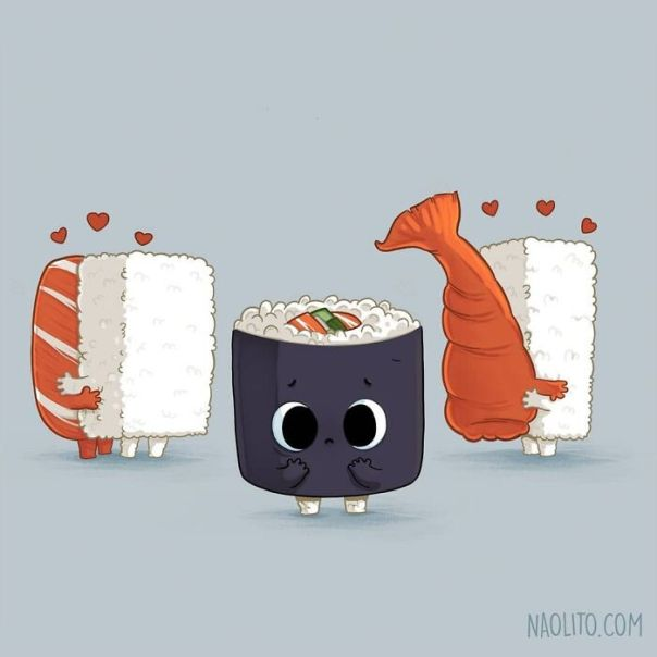 Lonely Sushi! 🍣 I Want To Use This Design To Inaugurate My Patreon Page! I've Wanted To Do It For A Long Time, And Given The Situation I Had Some Extra Time, So I'm Working Like Crazy Creating Tutorials, Wallpapers And A Lot Of Interesting Stuff. if You Enjoy My Work, I Strongly Recommend You To Visit The Link In My Profile, And Hopefully You Can Become In My Patron :) #patreon #patron #tutorial #illustration #cute #cuteness #funny #kawaii #food #foodporn #lol #aww #awww #awesome #indieart #indieartist