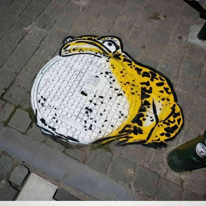 The Big Frog #frog #oakoak #streetart #brussels #bruxelles #belgium #belgique #urban #art #animal #hokusai #graff # mtn94
