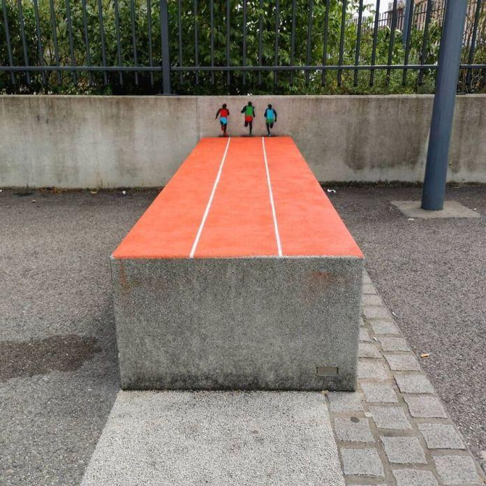 Работа с детьми в Venissieux #oakoak #sport #streetart #urban #urbanart #bolt #graff #urbanintervention #graff #graffiti #fun #funny #street