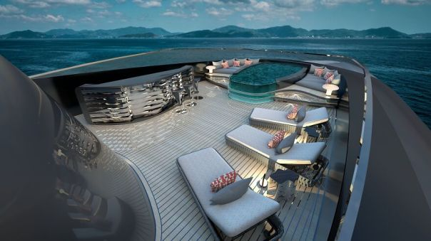 Iconic Sx80 Hybrid Superyacht, Private Sundeck