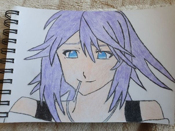 My Drawing Of Mizore From Rosario Vampire. Took A Few Hours