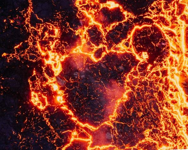 Lava Heart From Drone