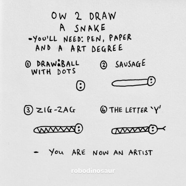 How 2 Draw A Snake