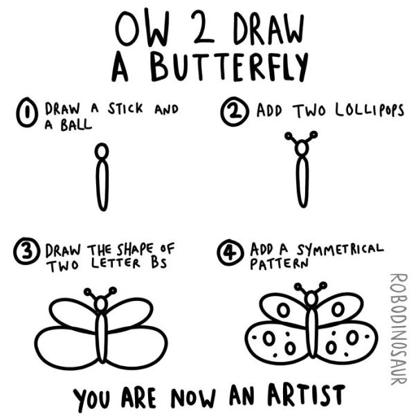 How 2 Draw A Butterfly
