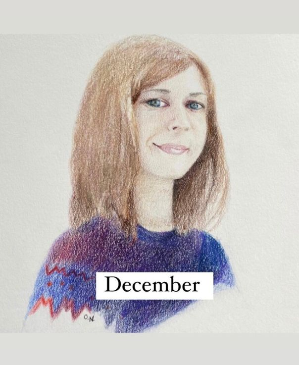 I Used Colored Pencils To Make 12 Portraits Of My Friends For A Whole Year