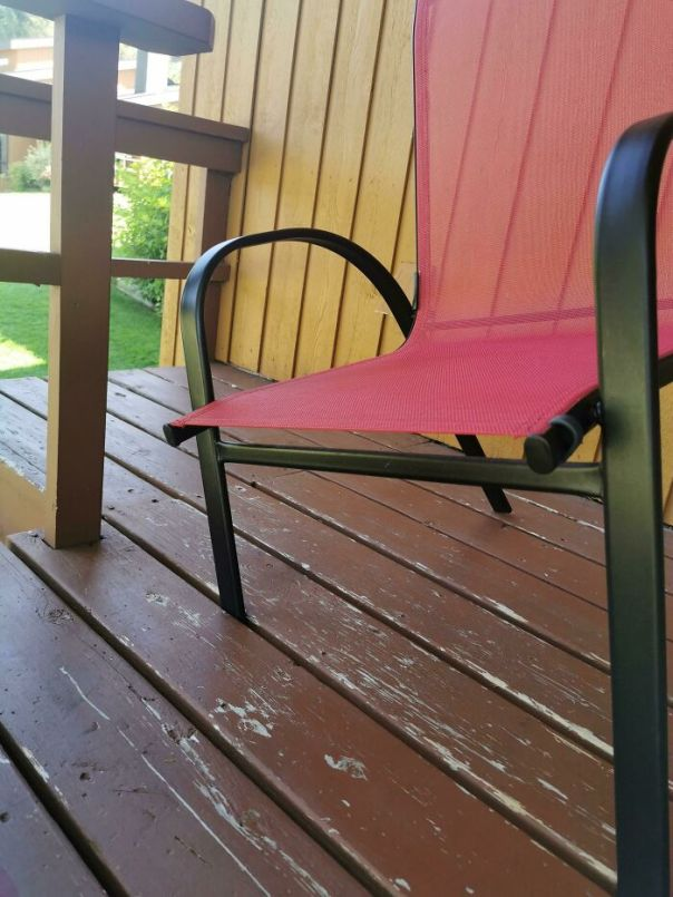 Every Chair In This Resort Fits Through The Deck, And The Majority Of People Who Stay Here Are Seniors