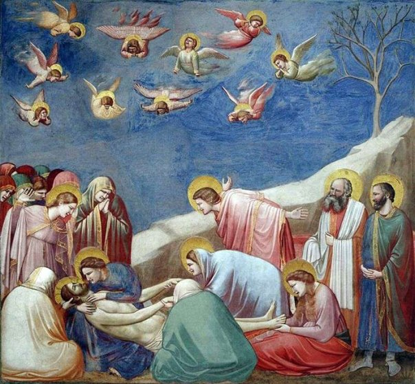 """""""It Looks Like A School Nativity Play Where Everyone's Made A Toga Out Of Different Colored Bedsheets It's A Giotto"""""""