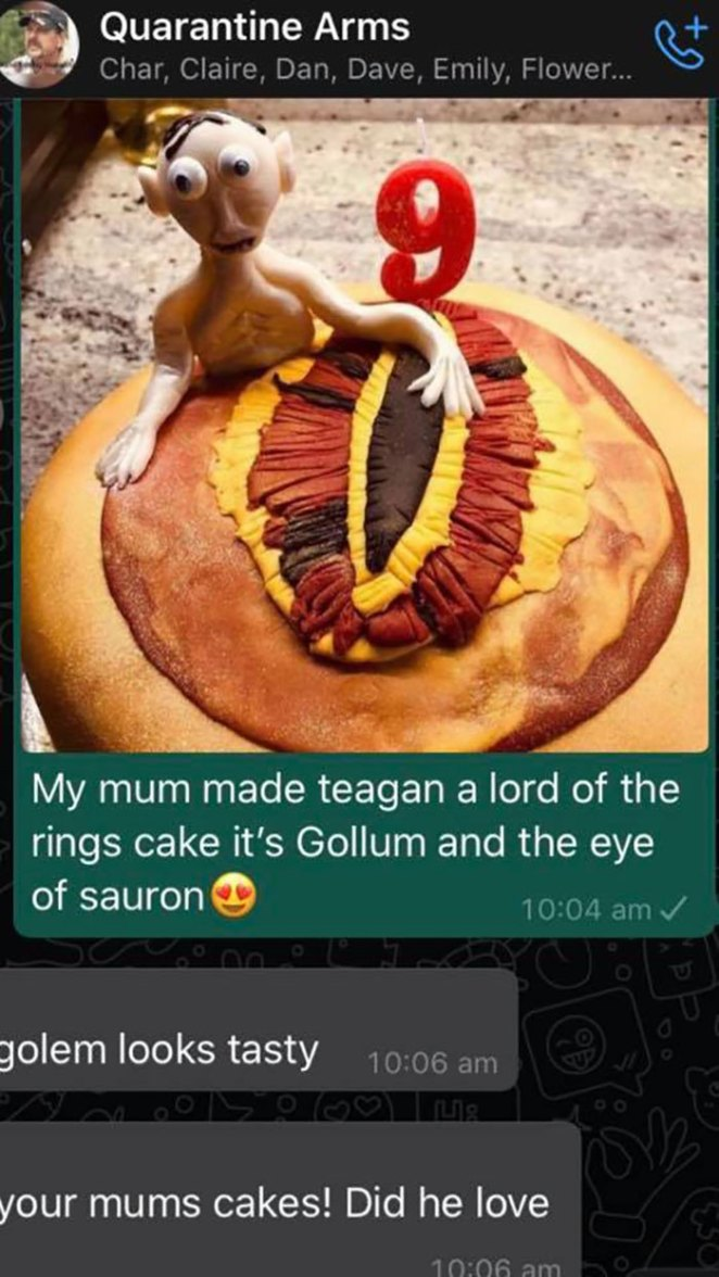An Earlier Post Reminded Me Of This Beauty My Mum Made My Nephew For His Birthday. It's Supposed To Be Gollum With Eye Of Sauron