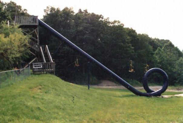 The Cannonball Loop Waterslide, A Slide So Dangerous It Was Shutdown Almost Immediately After Opening