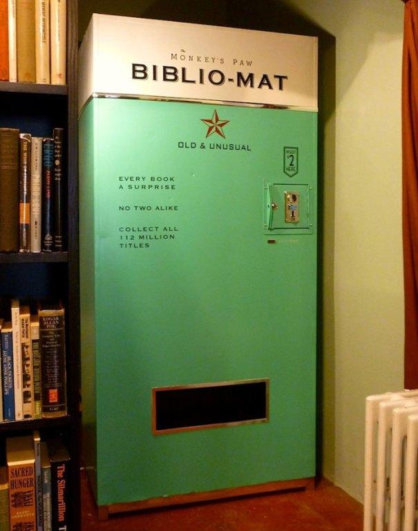 This Vending Machine Dispenses A Random Book For $2.00