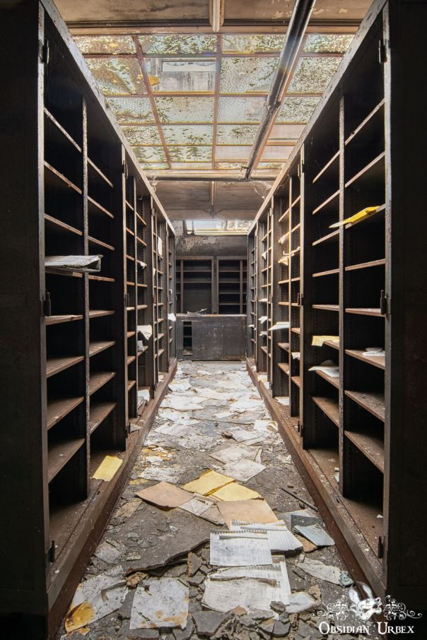 These Shelves Were Once Packed With The Financial Records Of This French Steel Empire