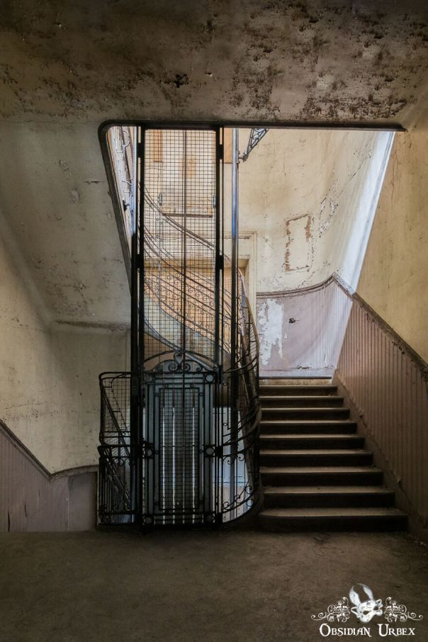 More Of The Steel Company's Metalwork Can Be Seen To Form The Stair Handrails And Elevators