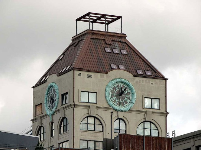 Old Clock Tower Transformed Into A