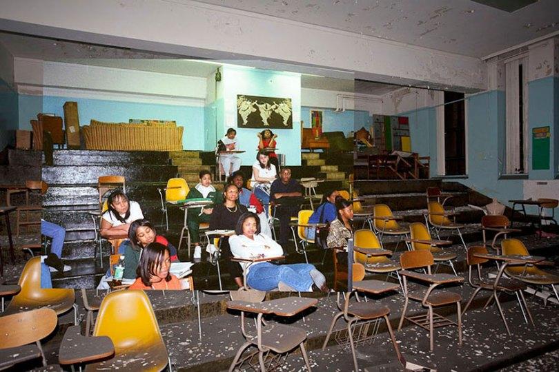 then and now abandoned school in detroit 10 - Fotos de uma escola abandonada em Detroit (antes e depois)