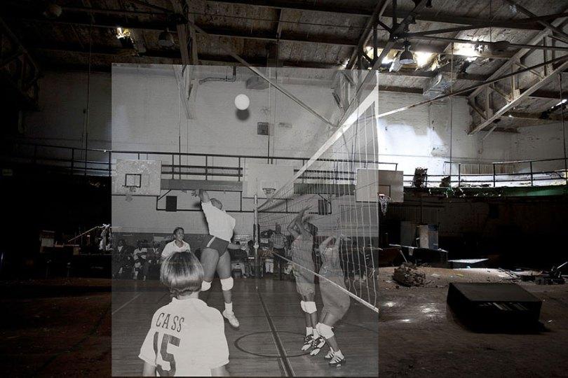 then and now abandoned school in detroit 20 - Fotos de uma escola abandonada em Detroit (antes e depois)