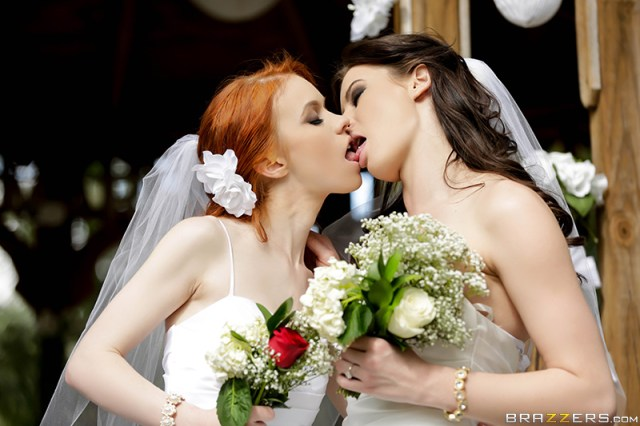 Dolly Little, Kymberlee Anne - Brazzers - Hot And Mean - It's A Nice Day For A White Lez Wedding