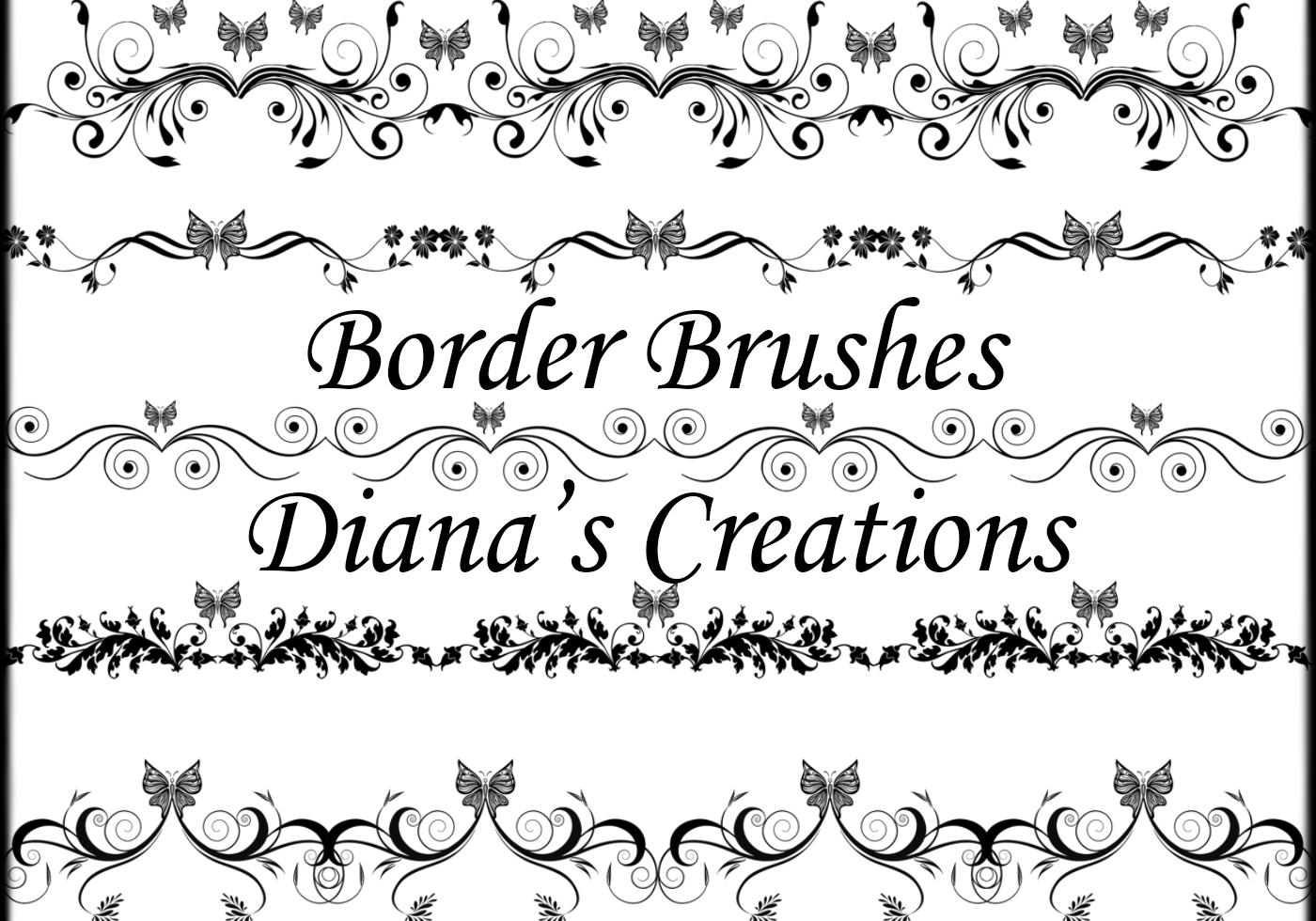 Elegant Border Brushes Free Photoshop Brushes At Brusheezy