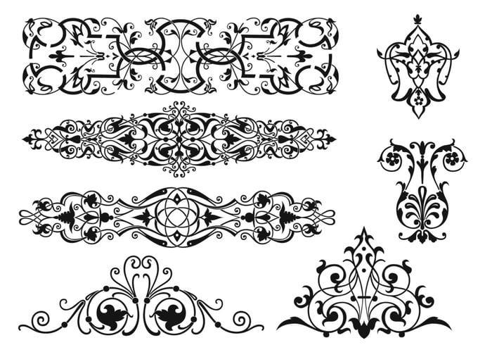 Art Nouveau Ornament Brushes Pack