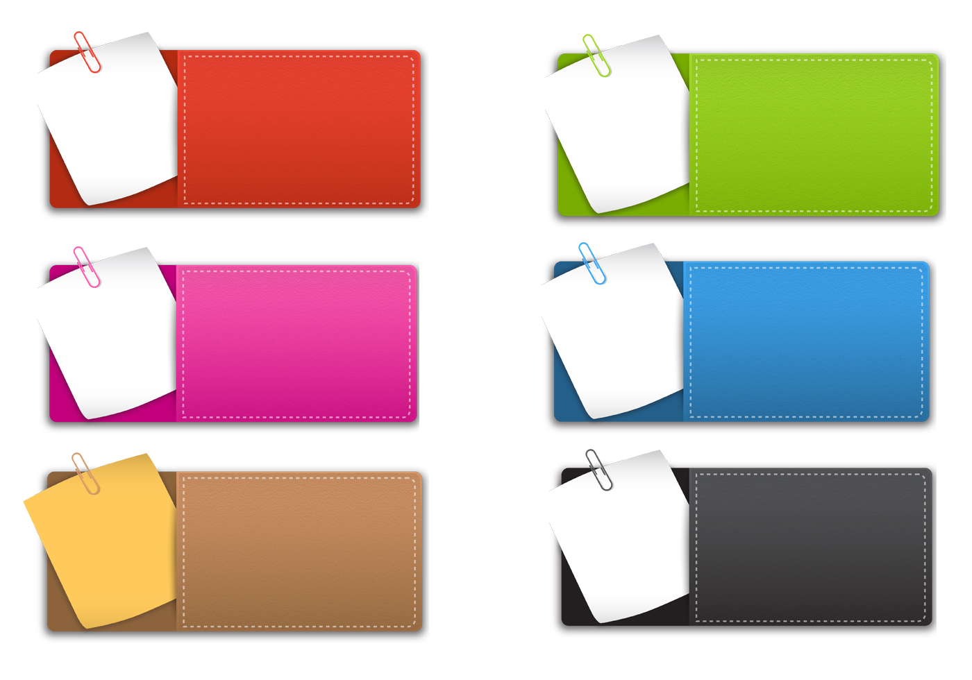 Sticky Note Banner Psd Pack
