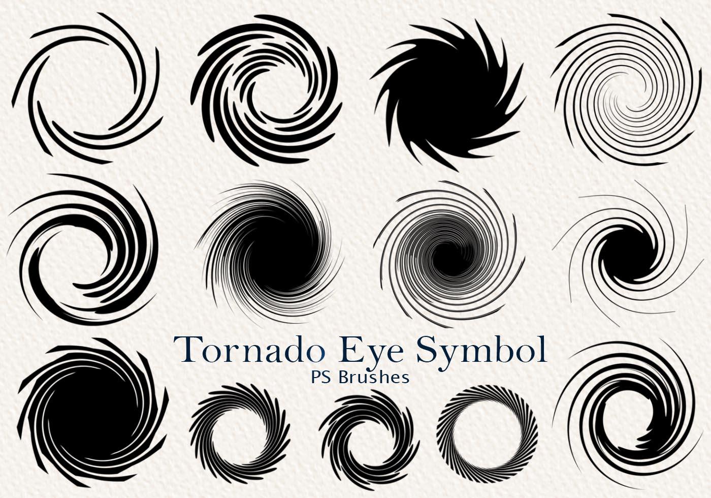 20 Tornado Symbol Ps Brushes Abr Vol 2