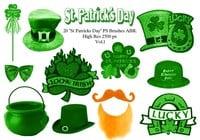 """20 """"día del St Patricks"""" PS Brushes abr.Vol.1"""