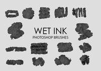 Libre de Wet Ink Pinceles para Photoshop 4