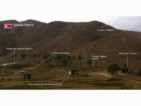 NK artillery site can be hard to detect