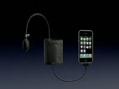 iphone and blood pressure sensor for telehealth