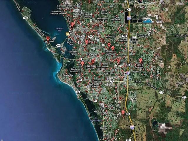 19) Sarasota, Fla. -- 1 in 21 homes in foreclosure