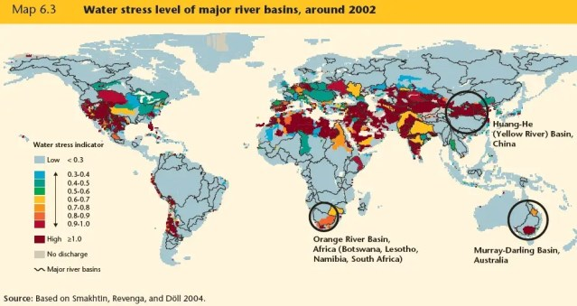Most of the world's major river basins face maximum stress levels