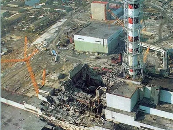 Faulty equipment causes nuclear meltdown at Chernobyl
