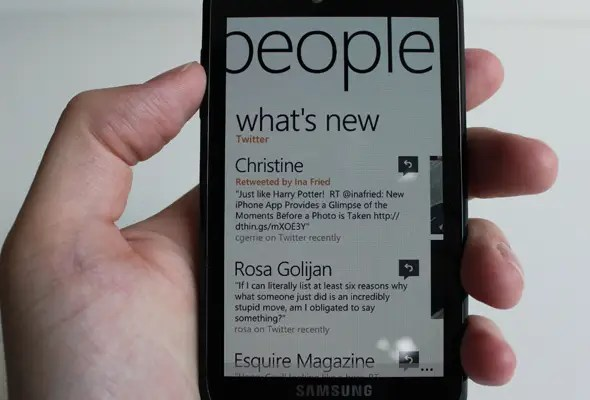 Social networking in Mango is far ahead of iOS.