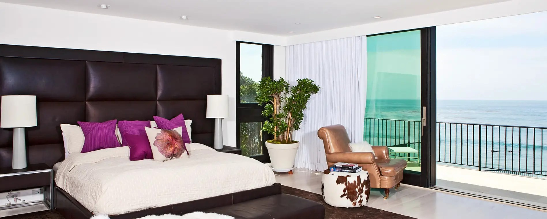 The master bedroom has a private terrace.