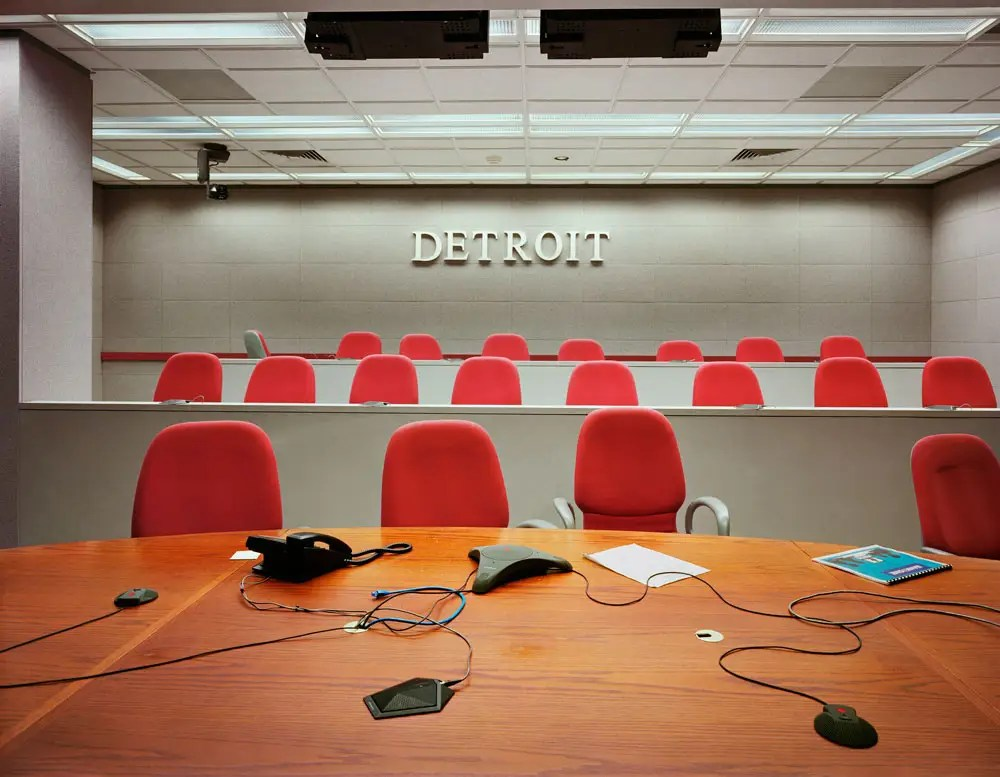 Abandoned videoconferencing room, Chase Tower, Financial District, 2008