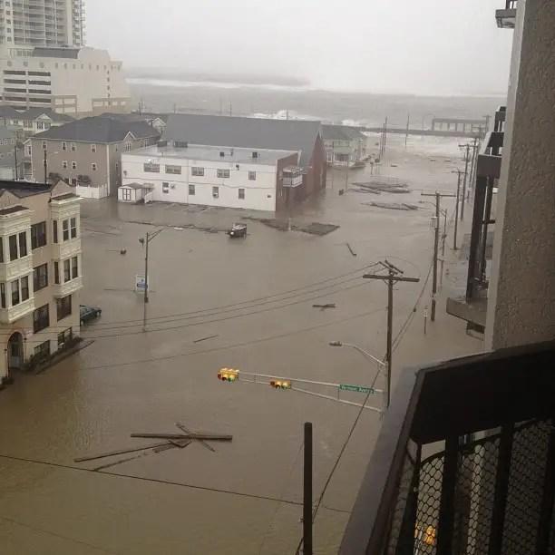 Променаде в вымыванию в Атлантик-Сити