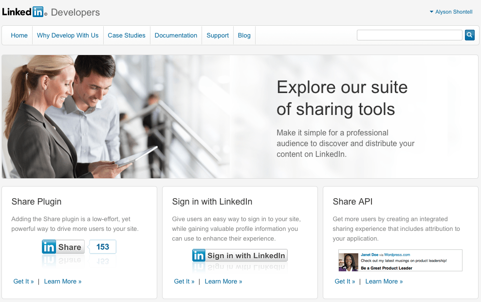 7. You're active on LinkedIn, but no one would know it from your website