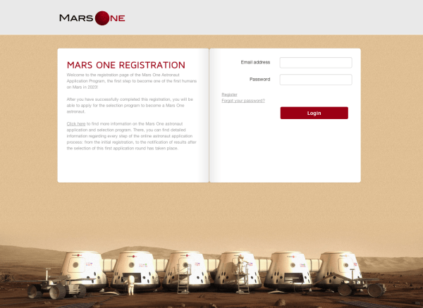 Here's My Application For A One-Way Trip To Mars ...