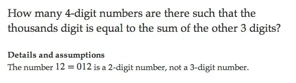 This is called a combinatorics problem. Raghav Sood, 15, solved it.