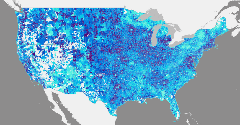 Average vehicle miles in the U.S.