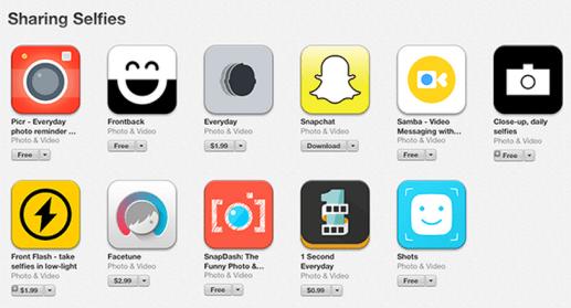"""Une catégorie """"Selfie"""" mise en place dans l'App Store - Apple"""