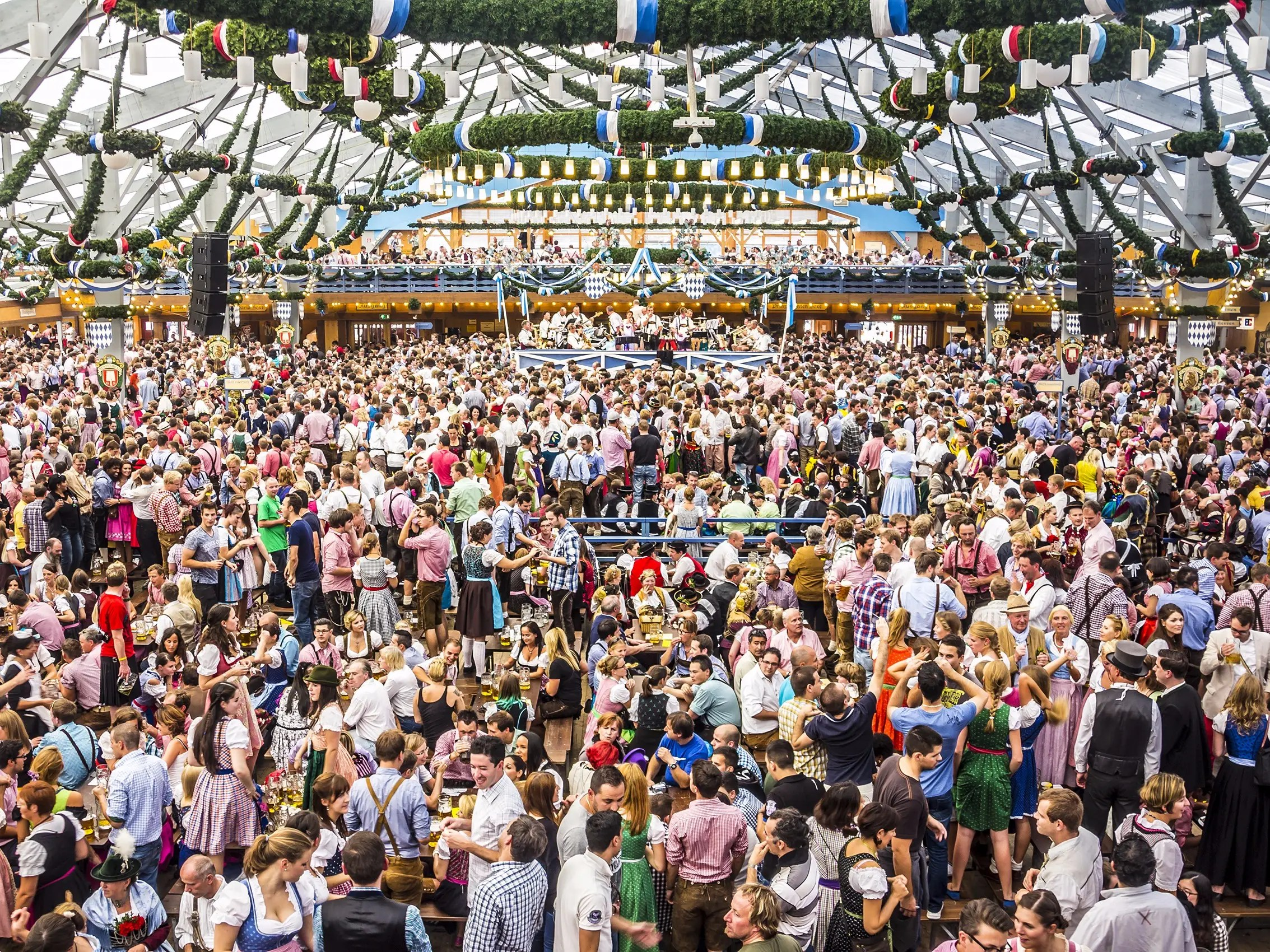 A guide to the Oktoberfest tents   Business Insider Oktoberfest  inside of tent  Munich  Germany