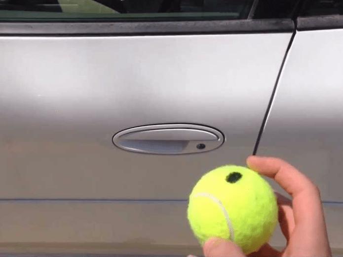 10. Tennis balls can't open locked car doors.