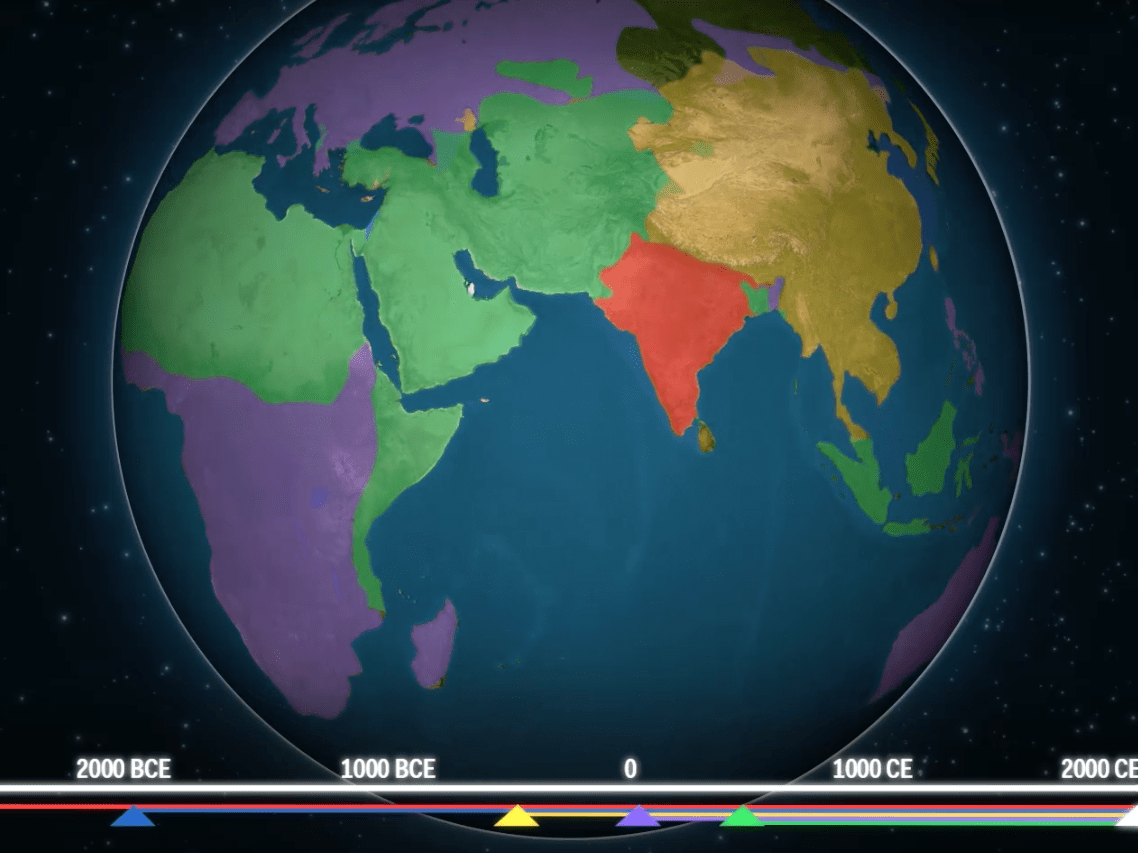 Mesmerising Maps Show How Religion Has Spread Throughout