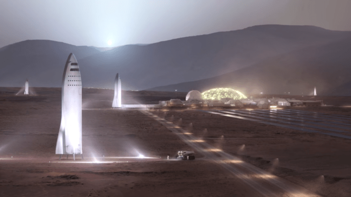 Mars colonization bfr spaceship elon musk spacex iac 2017 talk
