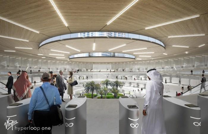 A proposed station. (Virgin Hyperloop One)