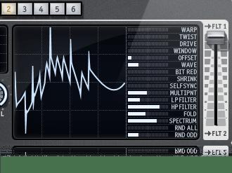 Z3TA Waveshaper Modes