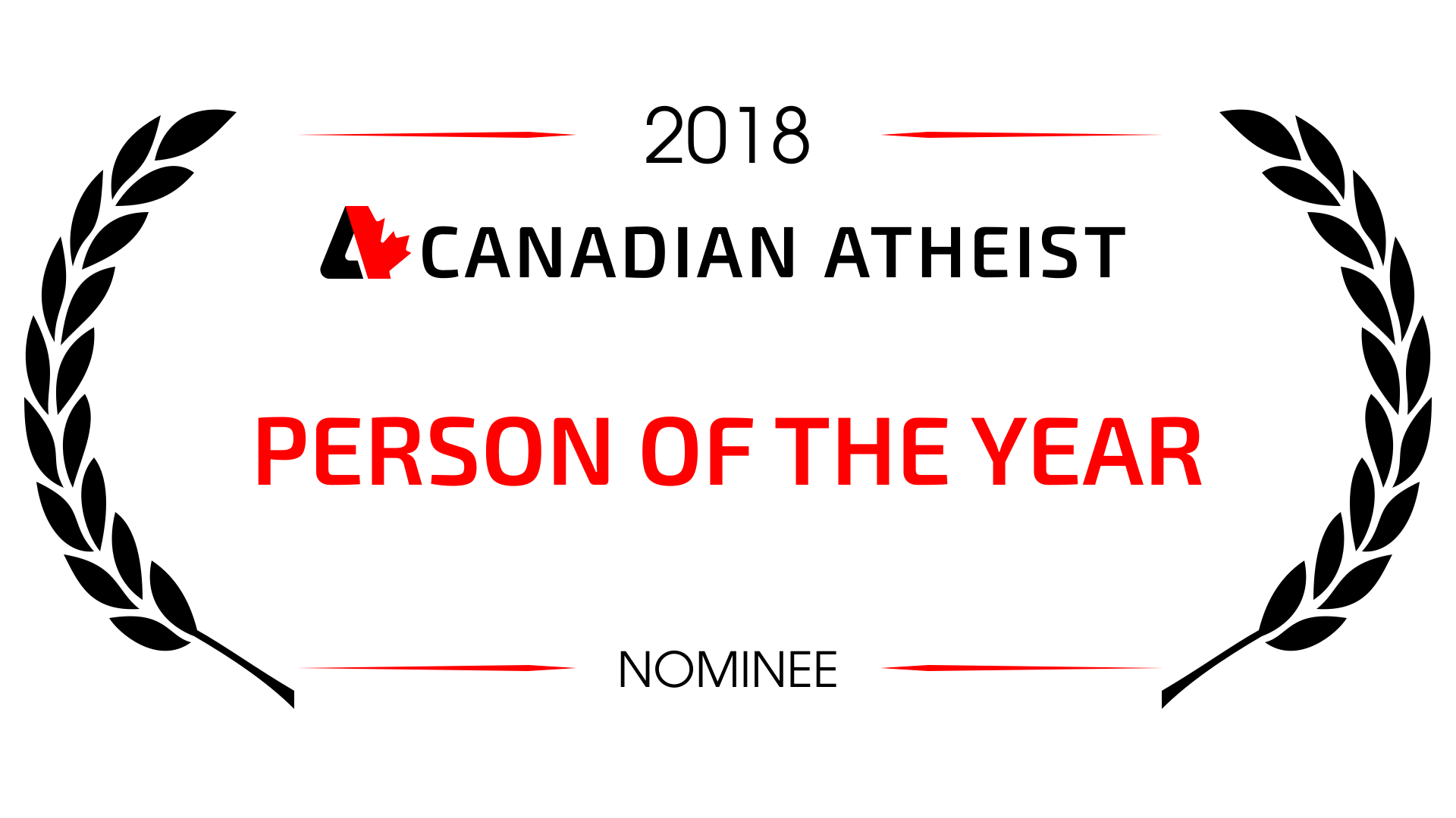 [2018 Canadian Atheist Person of the year nominee award]