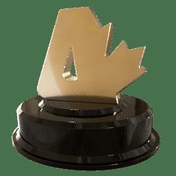 [Canadian Atheist award statuette]